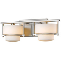 Z-Lite 3030-2V-BN Porter 2 Light 16 inch Brushed Nickel Vanity Wall Light in G9