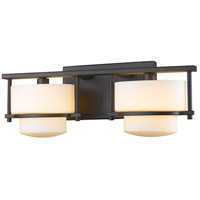 Z-Lite Porter 2 Light Vanity Light in Bronze 3030-2V-BRZ