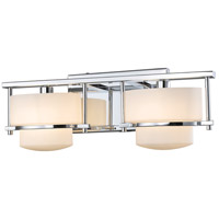 Z-Lite 3030-2V-CH Porter 2 Light 16 inch Chrome Vanity Wall Light in G9