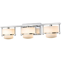Z-Lite 3030-3V-CH-LED Porter LED 25 inch Chrome Vanity Wall Light in 3