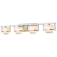 Z-Lite 3030-4V-CH Porter 4 Light 34 inch Chrome Vanity Wall Light in G9