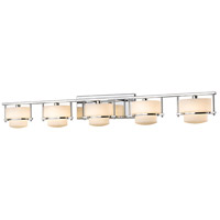 Porter LED 43 inch Chrome Vanity Light Wall Light in 5