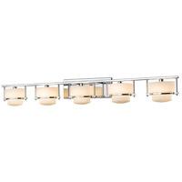 Z-Lite 3030-5V-CH Porter 5 Light 43 inch Chrome Vanity Wall Light in G9