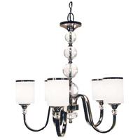 Z-Lite 307-5-CH Cosmopolitan 5 Light 25 inch Chrome Chandelier Ceiling Light