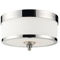 Cosmopolitan 3 Light 13 inch Chrome Flush Mount Ceiling Light