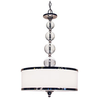 Z-Lite Cosmopolitan 3 Light Pendant in Chrome 307P-CH