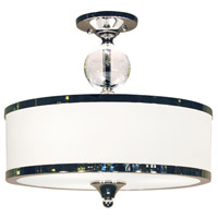 Cosmopolitan 3 Light 16 inch Chrome Semi-Flush Mount Ceiling Light
