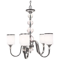 Cosmopolitan 5 Light 25 inch Brushed Nickel Chandelier Ceiling Light