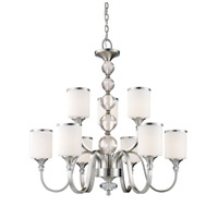 Cosmopolitan 9 Light 31 inch Brushed Nickel Chandelier Ceiling Light