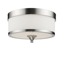 Z-Lite 308F-BN Cosmopolitan 3 Light 13 inch Brushed Nickel Flush Mount Ceiling Light