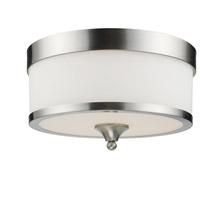 Z-Lite 308F-BN Cosmopolitan 3 Light 13 inch Brushed Nickel Flush Mount Ceiling Light