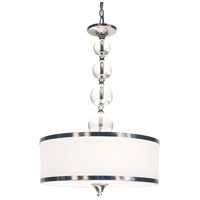 Cosmopolitan 3 Light 18 inch Brushed Nickel Pendant Ceiling Light
