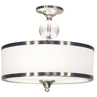 Z-Lite Cosmopolitan 3 Light Semi-Flush Mount in Brushed Nickel 308SF-BN