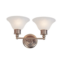 Z-Lite Dynasty 2 Light Vanity in Burnished Nickel/Chocolate 309-2V photo thumbnail