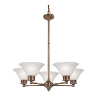Z-Lite Dynasty 5 Light Chandelier in Burnished Nickel/Chocolate 309-5C