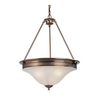 Z-Lite Dynasty 3 Light Pendant in Burnished Nickel/Chocolate 309P photo thumbnail