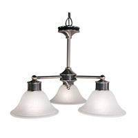 Z-Lite Dynasty 3 Light Chandelier in Satin Nickel/Black 310-3C