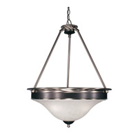 Z-Lite Dynasty 3 Light Pendant in Satin Nickel/Black 310P