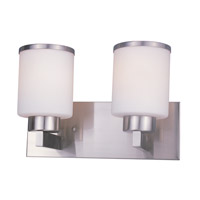 Cosmopolitan 2 Light 13 inch Brushed Nickel Vanity Wall Light