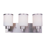 Cosmopolitan 3 Light 18 inch Brushed Nickel Vanity Light Wall Light