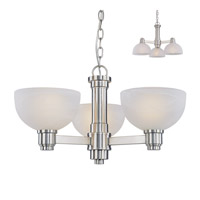 Z-Lite Chelsey 3 Light Chandelier in Brushed Nickel 314-3C-BN