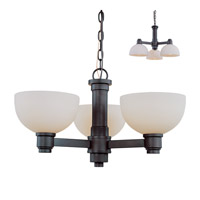 Z-Lite Chelsey 3 Light Chandelier in Dark Bronze 314-3C-BRZ