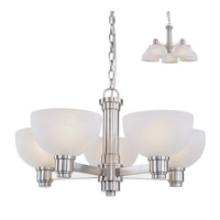 Z-Lite Chelsey 5 Light Chandelier in Brushed Nickel 314-5C-BN