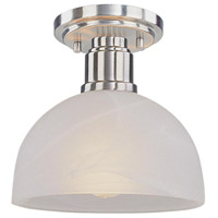 Z-Lite Chelsey 1 Light Semi Flush Mount in Brushed Nickel 314F-BN