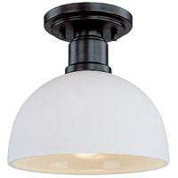 Z-Lite 314F-BRZ Chelsey 1 Light 8 inch Bronze Flush Mount Ceiling Light in Dark Bronze