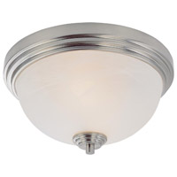 Z-Lite Chelsey 2 Light Flush Mount in Brushed Nickel 314F2-BN