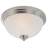 Z-Lite 314F2-BN Chelsey 2 Light 12 inch Brushed Nickel Flush Mount Ceiling Light