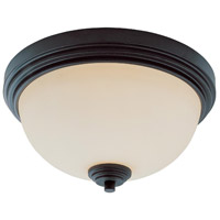 Z-Lite Chelsey 2 Light Flush Mount in Dark Bronze 314F2-BRZ