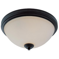 Z-Lite Chelsey 3 Light Flush Mount in Dark Bronze 314F3-BRZ