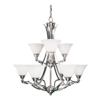 Z-Lite Carlisle 9 Light Chandelier in Brushed Nickel 316-9 photo thumbnail