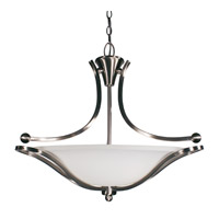 Z-Lite Carlisle 3 Light Bowl Pendant in Brushed Nickel 316P-24 photo thumbnail