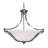 Z-Lite Carlisle 3 Light Bowl Pendant in Brushed Nickel 316P-28