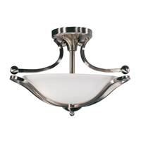 Z-Lite Carlisle 3 Light Semi-Flush Mount in Brushed Nickel 316SF