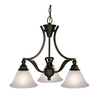 Z-Lite Carlisle 3 Light Chandelier in Bronze 317-3