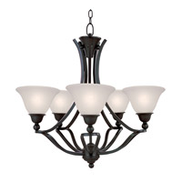 Z-Lite Carlisle 5 Light Chandelier in Bronze 317-5