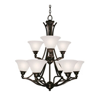 Z-Lite Carlisle 9 Light Chandelier in Bronze 317-9