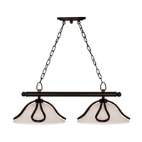Z-Lite Carlisle 2 Light Island/Billiard in Bronze 318-2