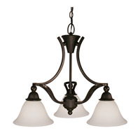 Z-Lite Carlisle 3 Light Chandelier in Bronze 318-3