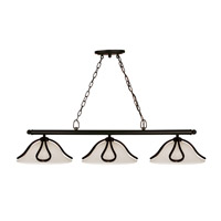 Z-Lite Carlisle 3 Light Island/Billiard in Bronze 318-3B