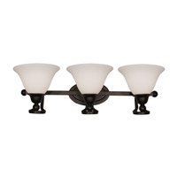 Z-Lite Carlisle 3 Light Wall Sconce in Bronze 318-3V