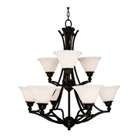 Z-Lite Carlisle 9 Light Chandelier in Bronze 318-9