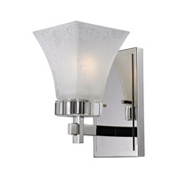 Z-Lite Pershing 1 Light Wall Sconce in Polished Nickel with White Watermark Glass 319-1S