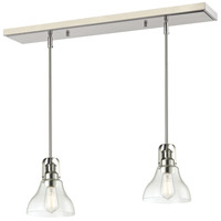 Z-Lite 320-8MP-2BN Forge 1 Light 30 inch Brushed Nickel Island Light Ceiling Light in 2, 8.00