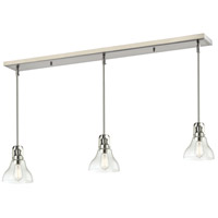 Forge 3 Light 50 inch Brushed Nickel Island Light Ceiling Light in 7.5