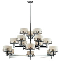Z-Lite 328-15-CH Elea 15 Light 49 inch Chrome Chandelier Ceiling Light