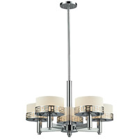 Elea 5 Light 24 inch Chrome Chandelier Ceiling Light